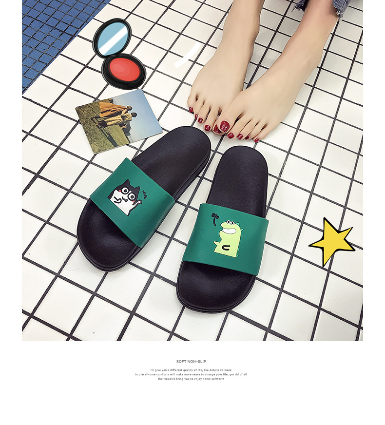 WHOHOLL Man Home Slippers Summer Sandals 2019 New Anti-skid Outside Wear Indoor Home Bathroom Bath Couple Cold Slippers Male 17