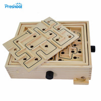 Montessori Kids Toy Maze Game Circulate Board Game Preschool Brinquedos Juguets