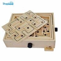 Montessori Kids Toy Maze Game Circulate Board Game Preschool Brinquedos Juguets