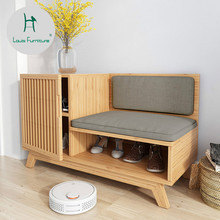 Louis Fashion Shoe Cabinets Japanese Nordic Entrance Store Modern  Minimalist Original Designer With Shoes And Stools
