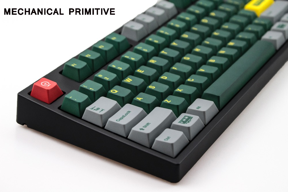 Green Train 151 Key Five Dye-Subtion PBT Sublimation Cherry Factory Height For Mechanical Gaming Keyboard