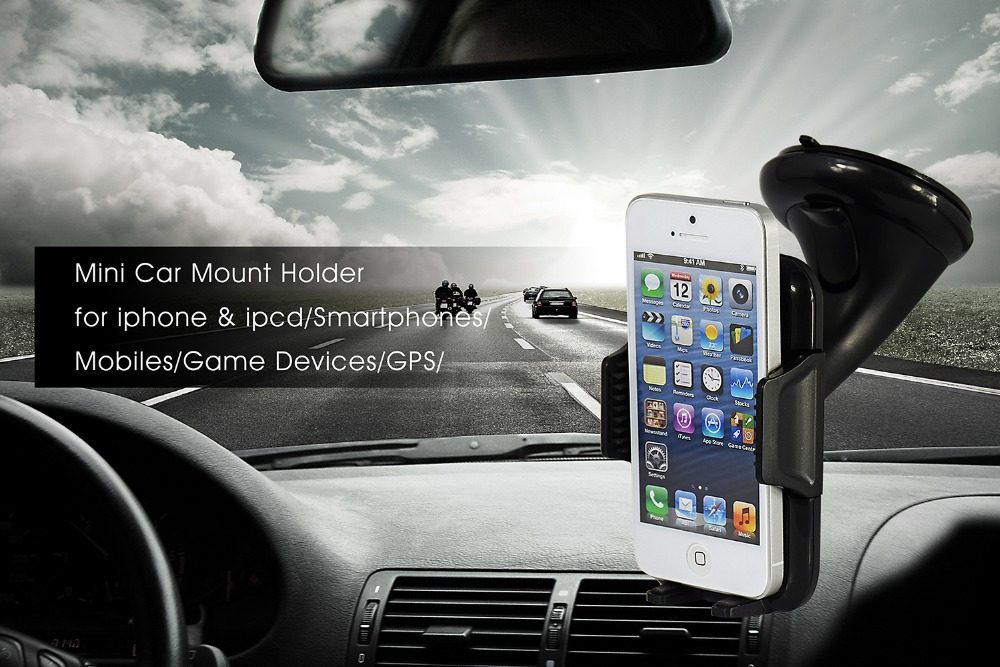 for wiko Lenny 360 Degree Rotating Car Phone Windshield Sucker Mount Bracket Holder Stand Universal for wiko Lenny