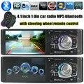 Новое Прибытие Высокого Качества 4.1 Дюймов HD TFT Экран Автомобильный Радиоприемник стерео Bluetooth 1 din размер Поддержка Камеры Заднего Вида SD/USB MP4/MP5 плеер