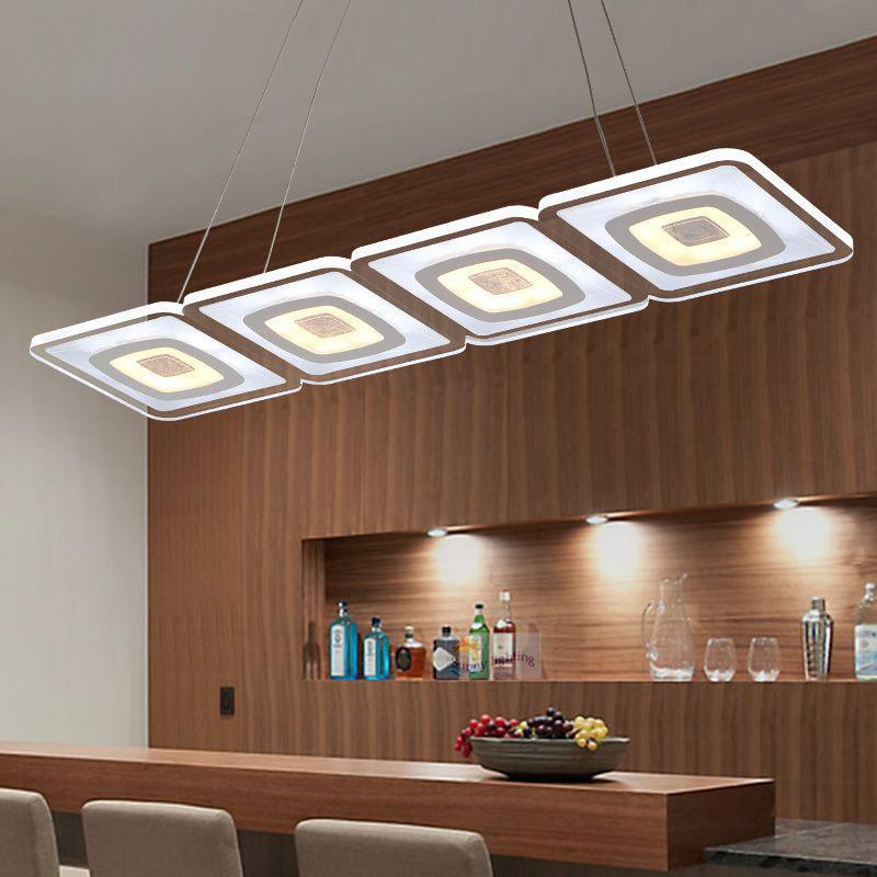 Modern Commercial Lighting. Modern Commercial Lighting Office Led Pendant  Lights Glass Room Square Lamp Kitchen