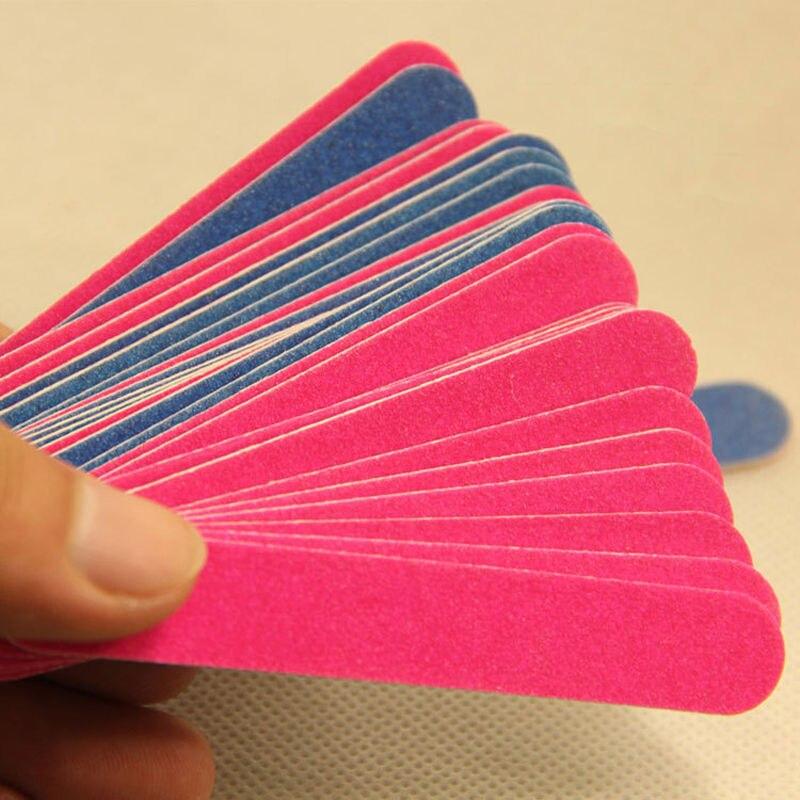 100pcs Professional Nail Files Nail Buffer Buffing Slim Crescent Grit Nail Tool