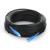 50M SC Simplex FTTH Drop Patch Cable Outdoor Singlemode Fiber Optic Patch Cord FTTH Fiber Optic Jumper Cable