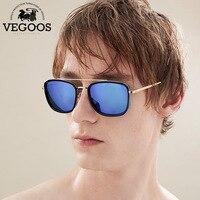 VEGOOS Brand Designer Men Sunglasses Square Style Mirrored Lenses Eyewear For Men S Unisex Sun Glasses