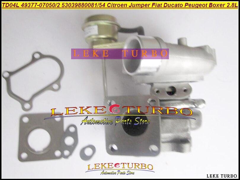 Turbo TD04 53039700081 53039700054 49377-07050 49377-07052 Turbocharger For Citroen Jumper Fo Fiat Ducato For Peugeot Boxer 2.8L шрус внутренний левый citroen jumper fiat ducato peugeot boxer 94 02 2 5d 1800 кг go 200
