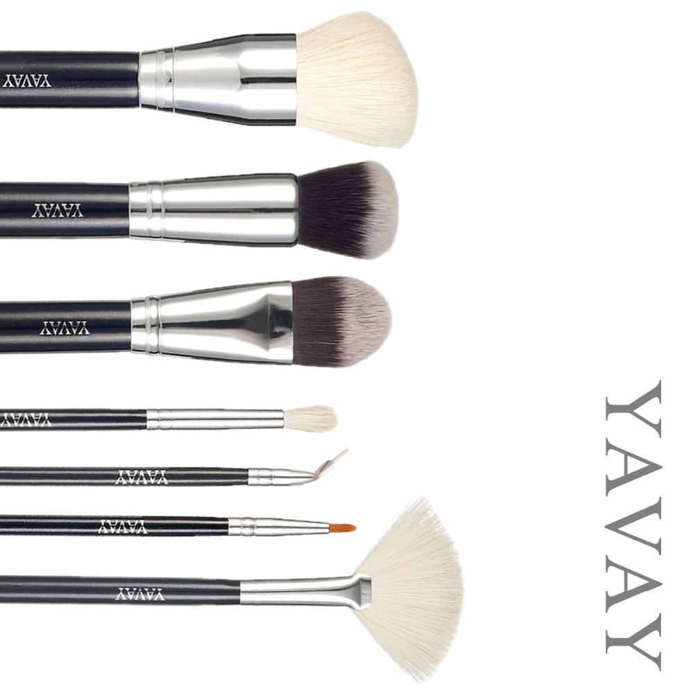 YAVAY Brand new Extra makeup Brushes set make up Kit powder foundation fan eyeshadow eyeliner professional high quality brush brand high quality electric eraser with extra refills