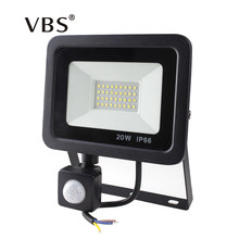 Led 10W 20W 30W 50W Flood Light Outdoor PIR Motion Sensor 220V IP66 Outdoor Spotlight Led Projector Light Reflector With Sensor(China)