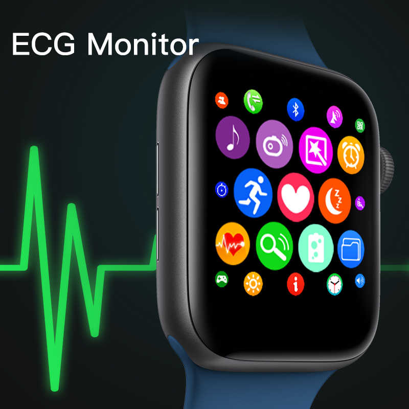 IWO 9 Bluetooth Smart Watch 44mm Series 4 1:1 Smartwatch Case for Ios Apple IPhone Android Phone Smartwatch with Heart Rate ECG