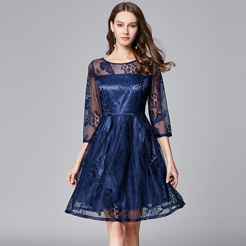 Women Dress Boho Plus Size Elegant Sexy Party Night Club Wear Evening Cape 2018 Summer Spring Bohemian Vintage Dresses-In Dresses From Womens -3790