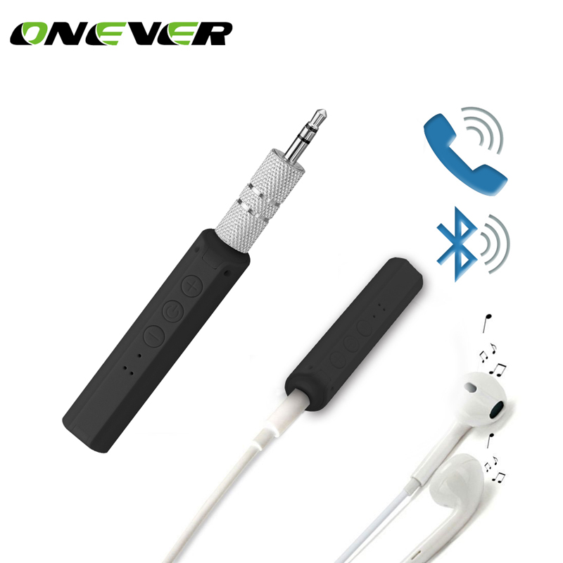 Wireless Bluetooth 4.2 Car Kit Hands Free Music Receiver 3.5mm Jack Audio Jack Receiver Adapter