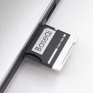 "Image 3 - BaseQi Hafıza Kartı Adaptörleri 750A Ninja Gizli Sürücü kart okuyucu Için Dell XPS 15 ""9550 Mikro usb kart okuyucu adaptador ssd usb sd"