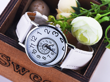 DHL frete grátis 100 pçs/lote, relógio caracol, Estilo Vintage Leather Watch, mulheres Relógios, Relógio namorado,