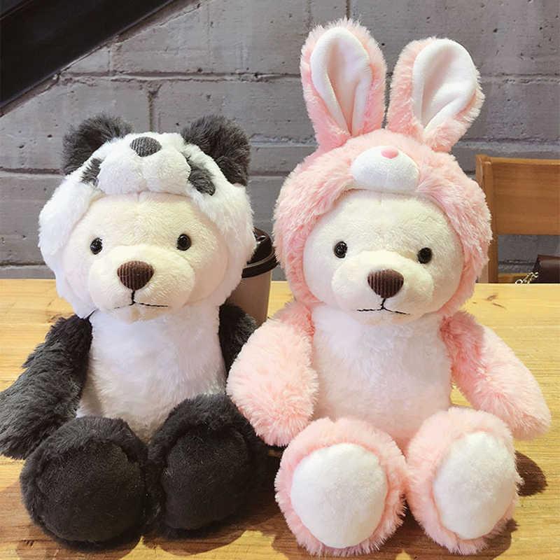 Милая мультяшная игрушка для сна с набивным животным, одет анимаи, игрушка, пелюши, плюшевый слон, кролик, панда, тигр, коала, носить шляпу, Подарочная игрушка