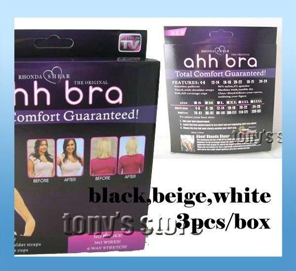 Wholesale price High Quality HOT Ahh Bra 3pcs/box Rhonda Shear Ahh Seamless Leisure One-Piece Bra with retail box drop shipping