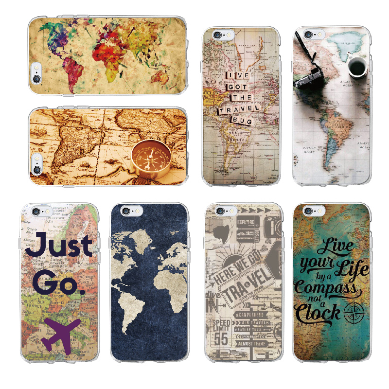 World Map Travel Just Go Soft Clear Phone Case Cover Coque Fundas For iPhone 11 Pro