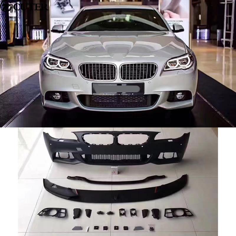 Unpainted Performance Rear Diffuser Dual for BMW F10 535i 5-Series M Tech Bumper