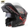 Nuevo casco de moto modular tirón encima capacete motocicleta da kask casque cascos de moto helm 903 dual viseras hombres cascos de carreras