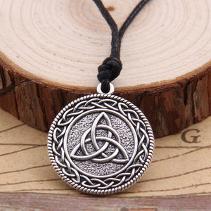 Viking Icelandic Vegvisir Helmet Horror In Runic Circle Pendant Magical Staves Compass Rune Amulet Collier Necklace(China)