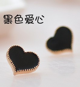 2018 Newest ! Design Retro Exquisite Acrylic Lovely Lady Peach Heart cute Stud Earrings For Women men free shipping