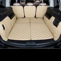 3D Waterproof Boot Carpets Non Slip Special Car Trunk Mats for Volkswagen Sharan 7seats