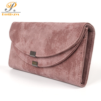 Prettyzys Long Women Large Wallet Female Ladies Handy Coin Purses Card Holders Pu Leather Fashion Vintage