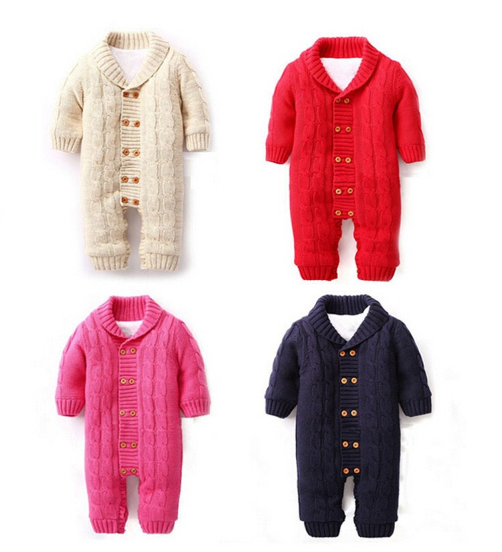 Winter-Newborns-Baby-Button-Rompers-Lapel-Knitted-Thickened-Sweater-Jumpsuit-Velvet-Fashion-Coat-CL0757 (2)
