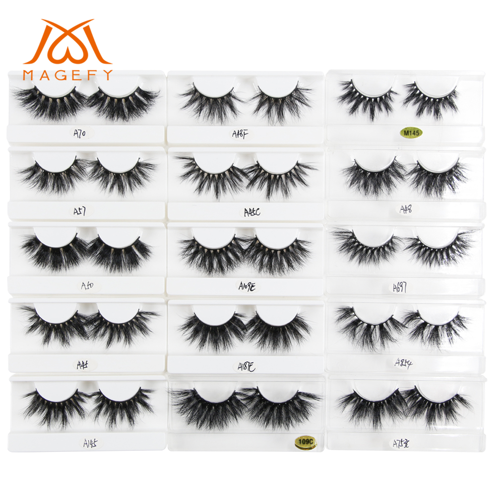 Wholesale 2019 New 25mm 3D Mink Lashes Natural Long False Eyelashes Dramatic Volume Fake Lashes Makeup Eyelash Extension Eyelash(China)