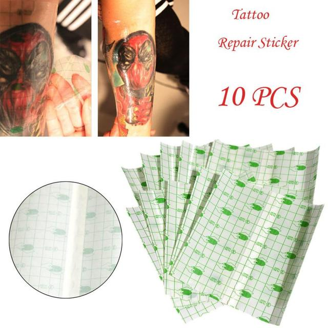 10pcs Temporary Tattoo Repair Stickers Breathable Film Wrap Cover