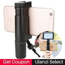 """Ulanzi handheld telefone tripé suporte de montagem de vídeo com sapata quente 1/4 """"parafuso, tripé suporte braçadeira para iphone"""