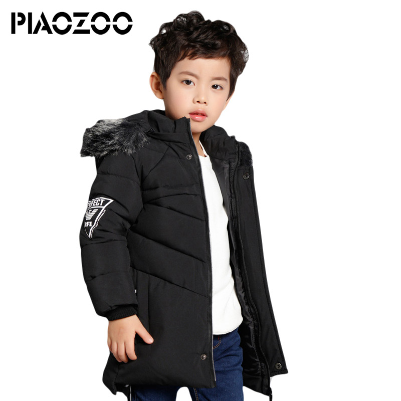 Cold winter Long warm thicken 2018 boy winter jacket fur hoodie duck down coat for boy high quality children coats clothing P20Cold winter Long warm thicken 2018 boy winter jacket fur hoodie duck down coat for boy high quality children coats clothing P20