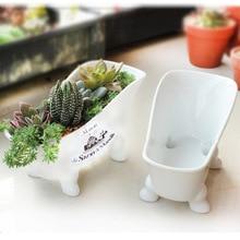 Бесплатная доставка Новый 2013 ZAKKA Японский имитация эмаль сделать старый ванна-образный керамический цветочный горшок Для посадки сочные