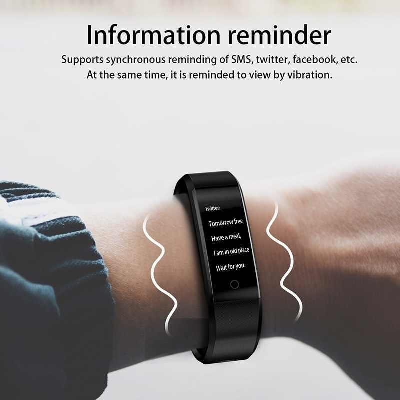 ID115Plus スマートブレスレットスポーツの Bluetooth リストバンド心拍数モニター腕時計活動フィットネストラッカースマートバンド