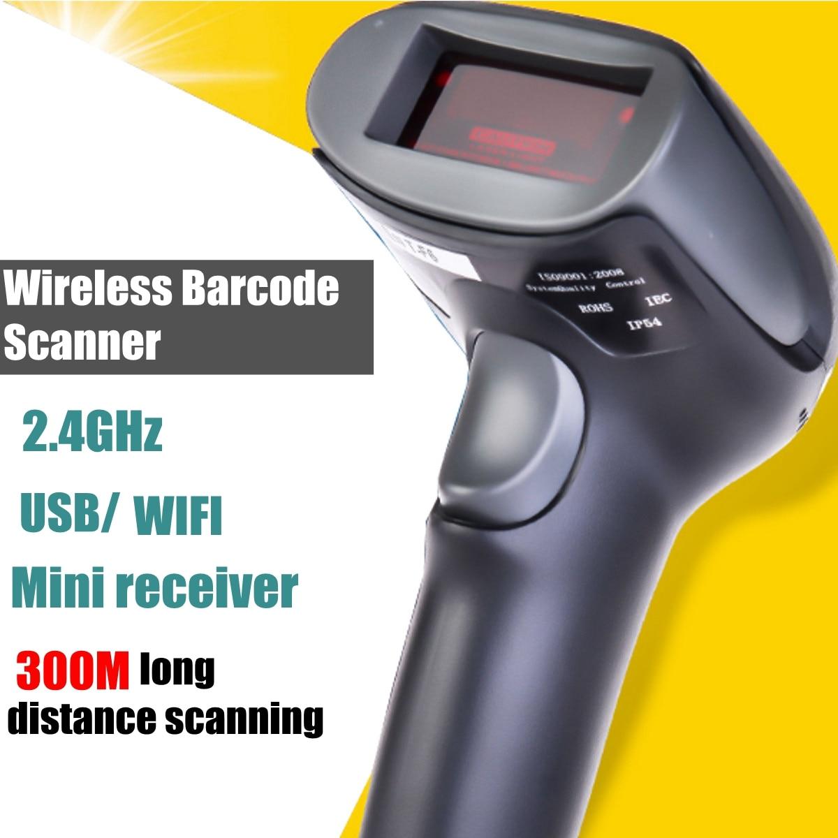 NETUM F6 Bluetooth WIFI Wireless Laser USB Barcode Scanner Scan Label Reader POS Handheld 2.4G