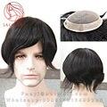 130% Мужчины волос системы Тупею мужчин Все Руки Связали MONO + НПУ волос часть замена для мужчин Человека парики невидимый мужские реми индийские волосы