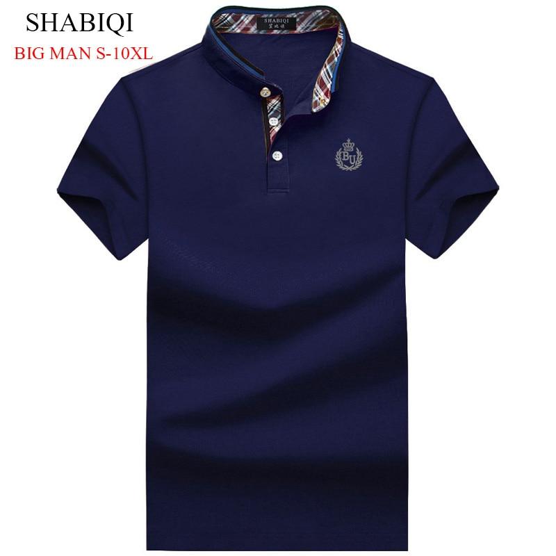 SHABIQI  PLUS SIZE Men's Regular Slim Lapel Embroidered Polo Shirts Cotton Men Casual Tops BIG MAN Poloshirts6X 7XL 8XL 9XL 10XL