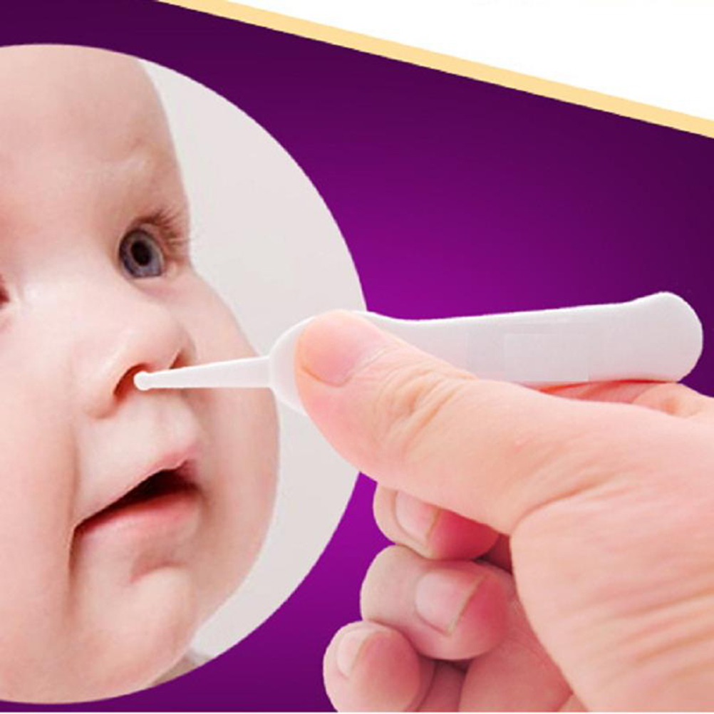 Baby Care Ear Nose Navel Cleaning Tweezers Safety Forceps Plastic Cleaner Clip
