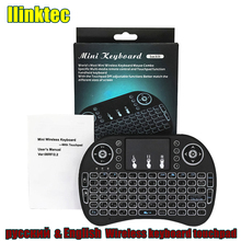 Mini Russian English New Version 2.4GHz Wireless Keyboard Air Mouse Touchpad Handheld for Android TV BOX Mini PC rii k18 mini wireless keyboard russian english version k18 fly air mouse touchpad for pc iptv smart android tv box k18 keyboard