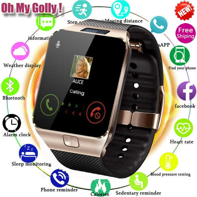 Reloj inteligente Bluetooth DZ09 para Apple Watch con cámara 2G SIM TF ranura para tarjeta teléfono inteligente para IPhone Android xiaomi Rusia T15