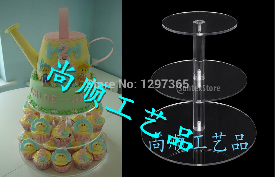 US $33 0 |Free Shipping CE/SGS Approved good quality transparent 3 Tier  Acrylic Cupcake Stand with cupcake stand for sale from shenzhen-in Stands  from