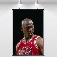 Michael Jordan NBA Basketball Poster Wall paintings Wall Sticker Banners Hanging Waterproof Cloth Art Decor 40X60 CM