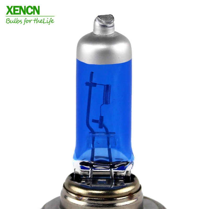 XENCN H7 12 V 55 W 5300 K Diamante Azul Filtro UV Halogênio Luz Do Farol Do Carro Branco Super Lâmpada de Cabeça 30% Mais ligh 75 M Feixe Nova 2POS