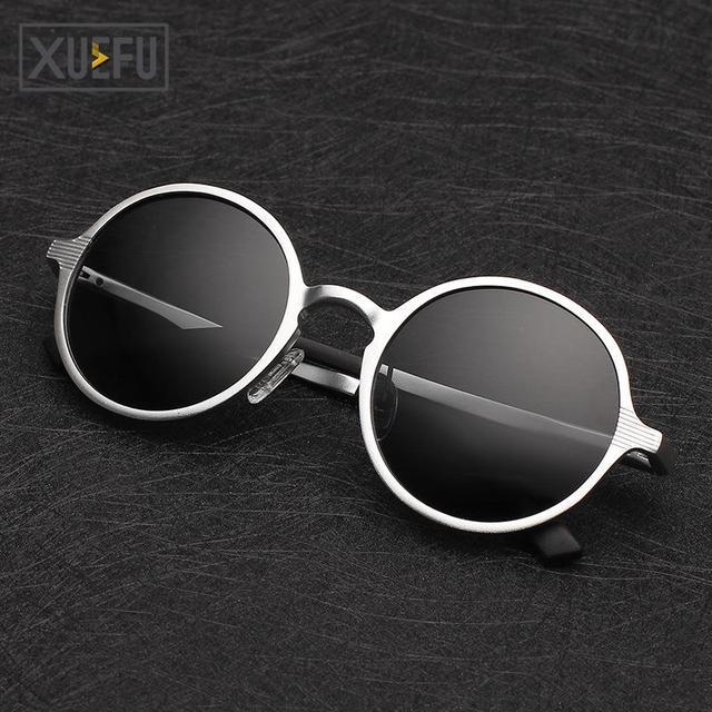 Brand NEW 2016 Polarized Round glasses 5 colors Metal polariod Steam Punk men women oculos de sol lunette de soleil Z2558