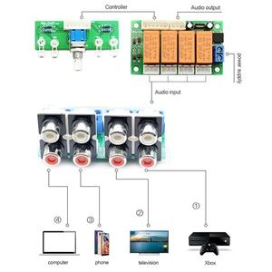 Image 2 - Lusya röle 4 yönlü ses giriş sinyali seçici anahtarlama RCA ses anahtarı giriş seçimi bitmiş kurulu B9 002
