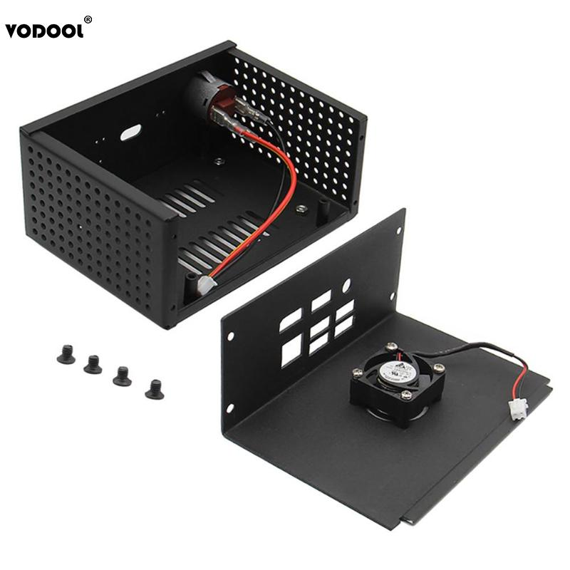 VODOOL Metal Case Power Control Switch Mini Cooling Cooler Fan Kit For Raspberry Pi X820 Storage Expansion Board Card Box Case 4pin mgt8012yr w20 graphics card fan vga cooler for xfx gts250 gs 250x ydf5 gts260 video card cooling