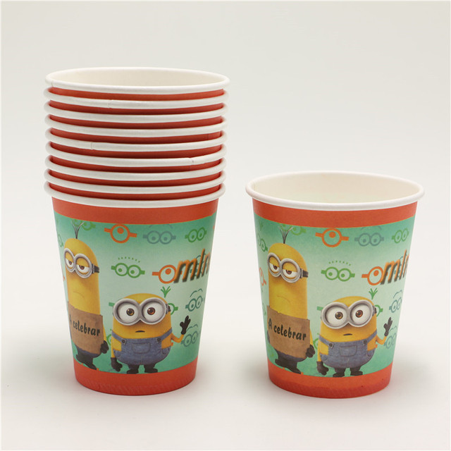 30pcs lot minions despicable me theme party disposable paper cups