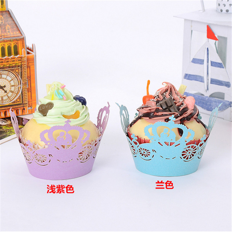 50pcs/lot Laser Cut Cupcake Wrappers Pumpkin car love couples wedding invitations decoration Christmas party cake Muffin molds