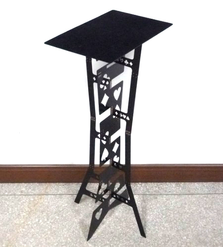Magic Folding Table (Alloy)- Black color, Magician's best table. stage magic, close-up,illusions, fire magic,Accessories light heavy box stage magic floating table close up illusions accessories mentalism magic trick gimmick